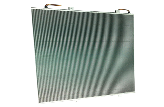 microchannel tube multilouver fin heat exchanger
