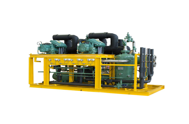 Semi-hermetic compressors water cooled parallel condener unit