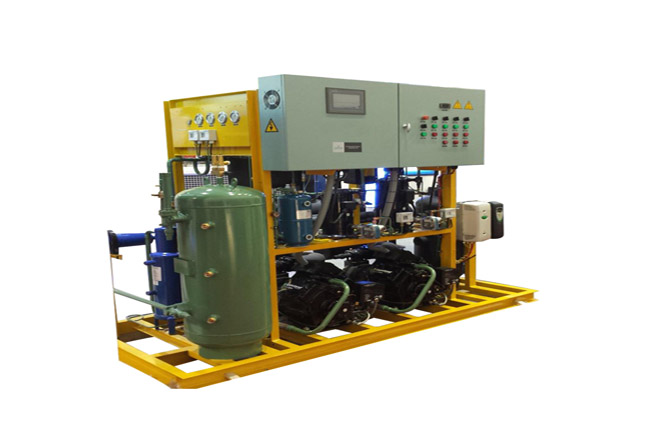 CO2 cascade parallel compressor unit