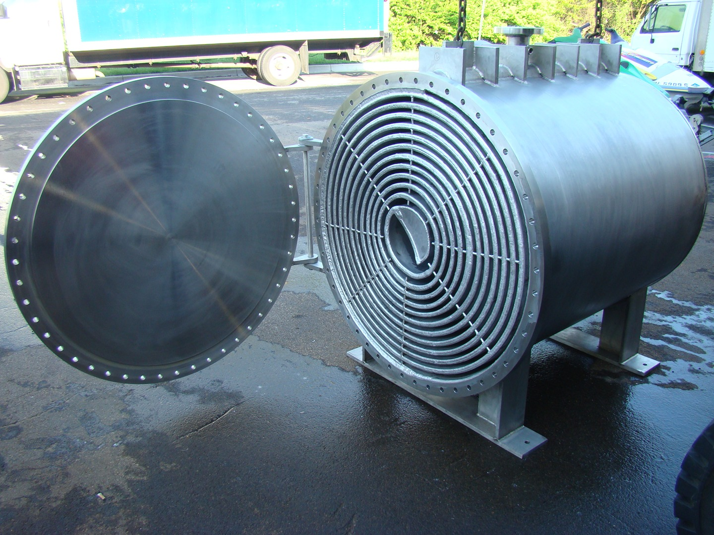 stainless steel spiral plate heat exchanger